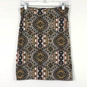 3/$20 SALE Rainbow Pencil Skirt Size Large